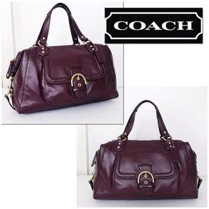 Coach Large Merlot Leather Campbell Satchel Bag